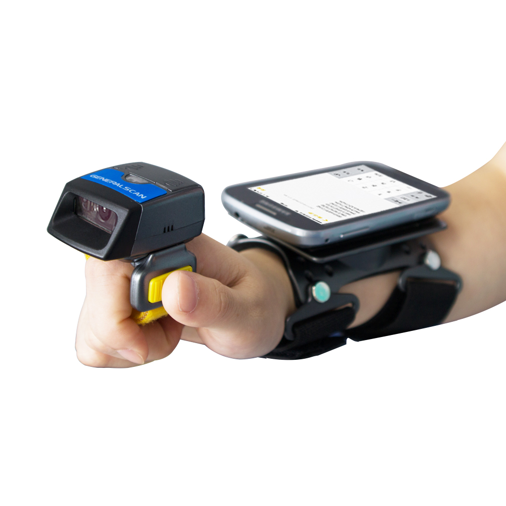 Generalscan (02)2D Wireless Bluetooth/USB Wearable Ring Barcode Scanner GS R1500BT-HW(N3680) with Wearable Armband AB2000 gereralscan gs ab1000 wearable armband with power adapter smart wearable armband for sale
