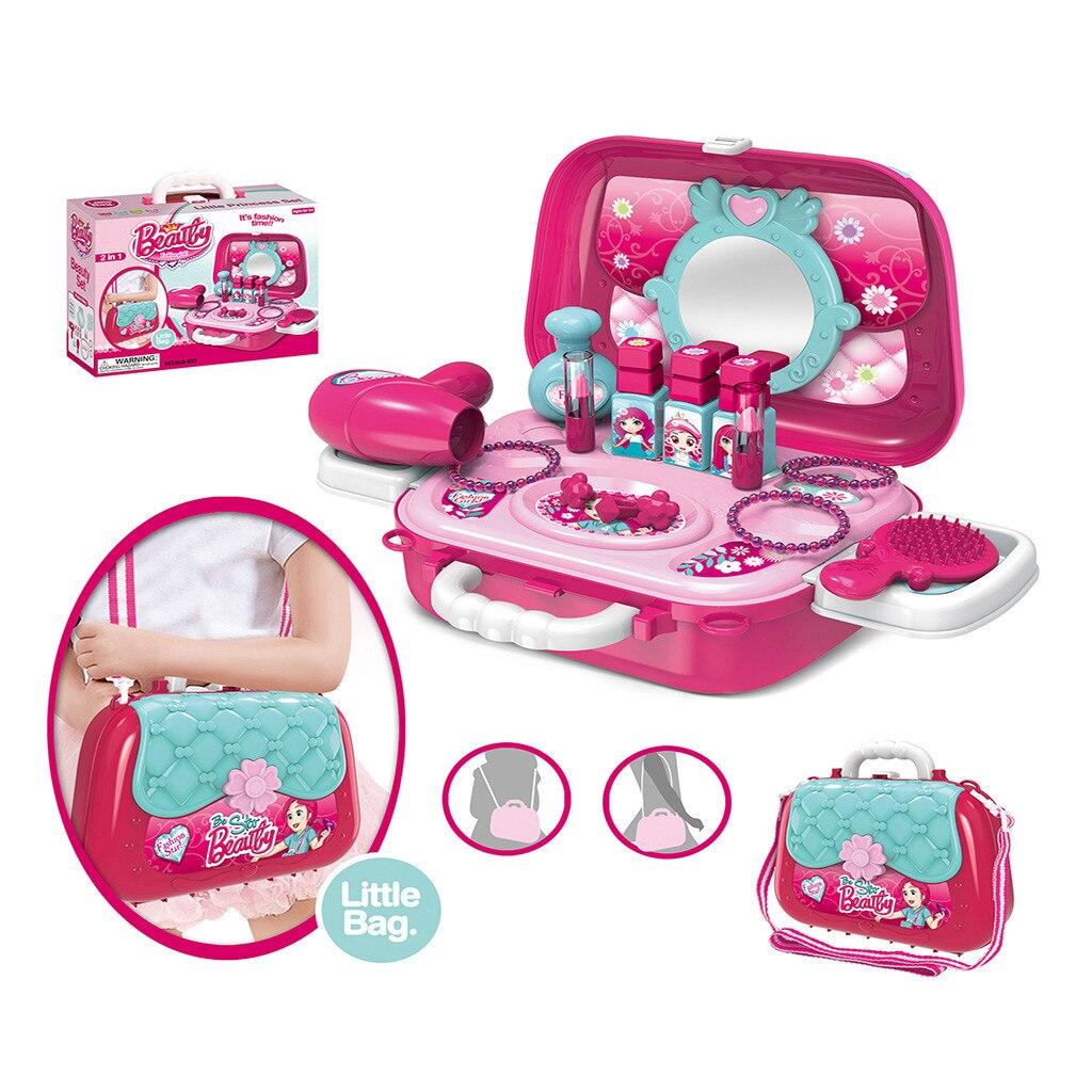 Hart Arbeitend Kinder Pretend Rolle Spielen Werden Star Schönheit Make-up Kosmetische Schulter Tasche Kinder Mini Spielset Puppenhaus Kinder Pädagogisches Spielzeug T9 #