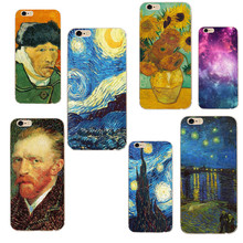 2018 Van Gogh Great Artist Phone Case For iPhone with Different Iphone  5 se 6 6s 7 7p 8 X mobile phone bags