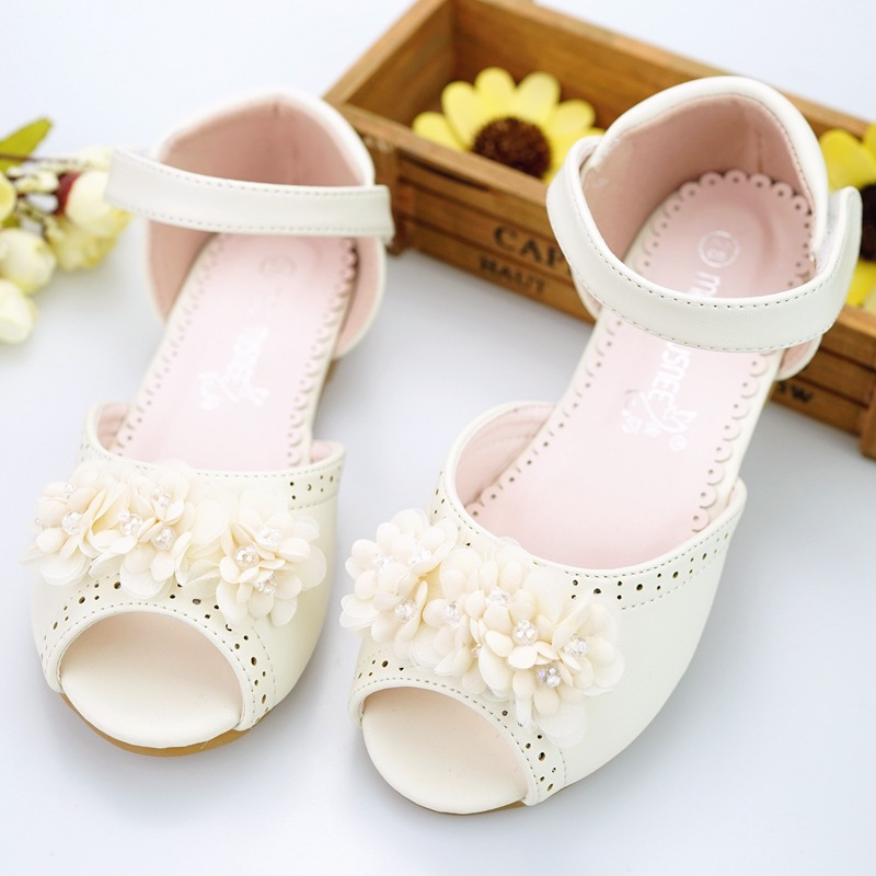 Kids shoes Girls 2018 New Summer Female Child Girls Sandals Flower Leather Princess Baby Girls Shoes fashion sandals