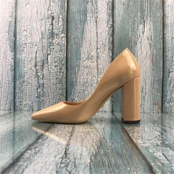 aa4e4b78e Kmeioo US 5-15, женские пикантные туфли-лодочки из лакированной кожи с  острым