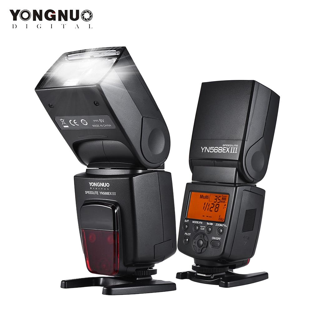 YONGNUO YN568EX III sans fil TTL HSS Flash Speedlite pour Canon 1100d 650d 600d 700d pour Nikon D800 D750 D7100 D5200 D3100