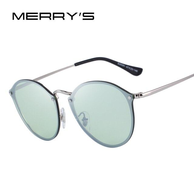MERRYS дизайн для мужчин/женщин классические ретро овальные солнцезащитные очки 100% УФ Защита S6308