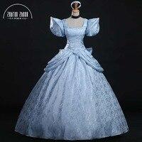 Top Quality Fashion Womens Ladies Luxury Cinderella Princess Cosplay Costume For Adult Cinderella Dress Halloween Costumes Dress