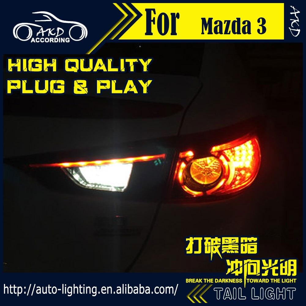 AKD Car Styling Tail Lamp for Mazda 3 Axela Tail Lights Hybrid LED Tail Light LED