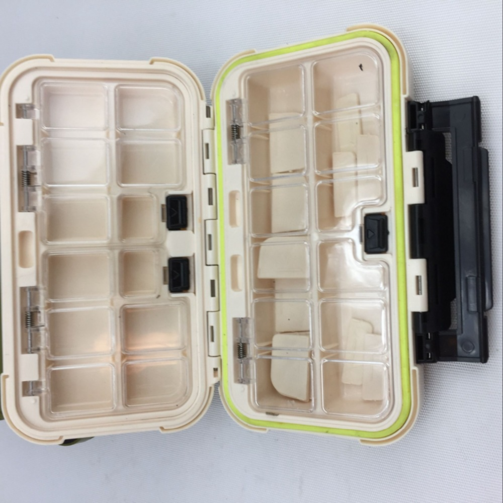 Waterproof Boxes tools Lure Bait Hook Storage Case Tackle Box with Small Compartments Fishing Accessories pesca <font><b>floating</b></font> locket