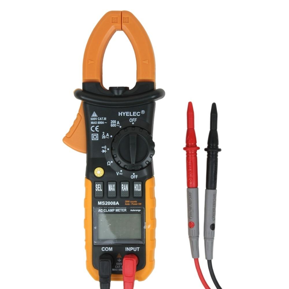 AC Current Clamp Meter Auto-Ranging AC/DC Voltage Test AC 600 AMPS Meter, Auto/Manual Range Digital Handheld Multimeter  цены