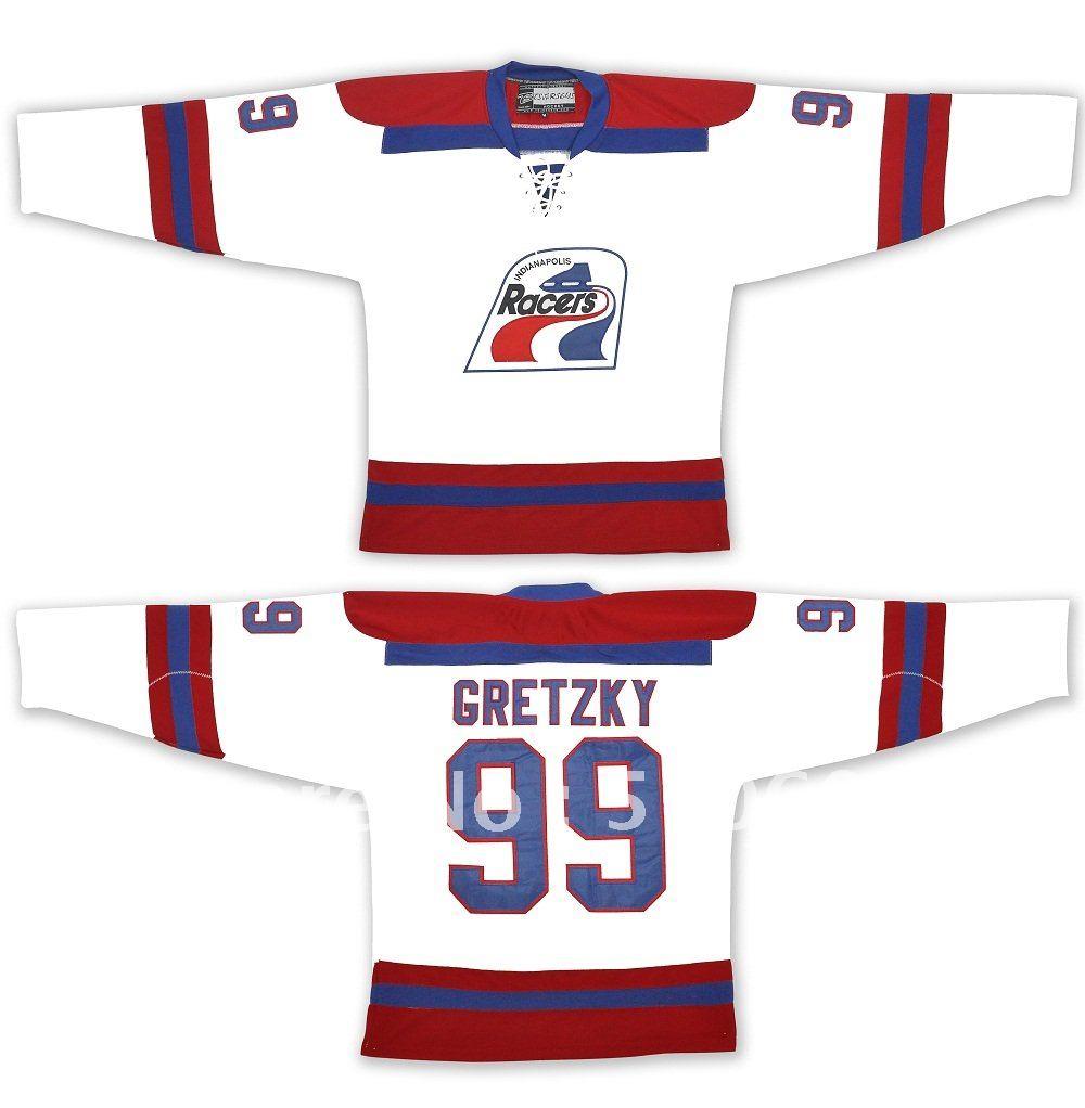 Wholesale Jersey Wayne Gretzky  99 Indianapolis Racers-Vintage WHA Ice  Hockey Jersey Stitch Sewn Mix order 5906e3b140e