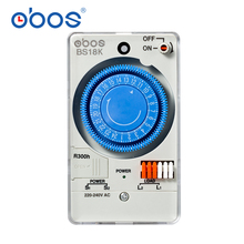 Hot sale timer 50 / 60Hz 220V time switch mechanical 24 hour timer switch, 48 times per day on/off time setting range 30 minutes 220v digital cumulative time counter resetable timer count working hour