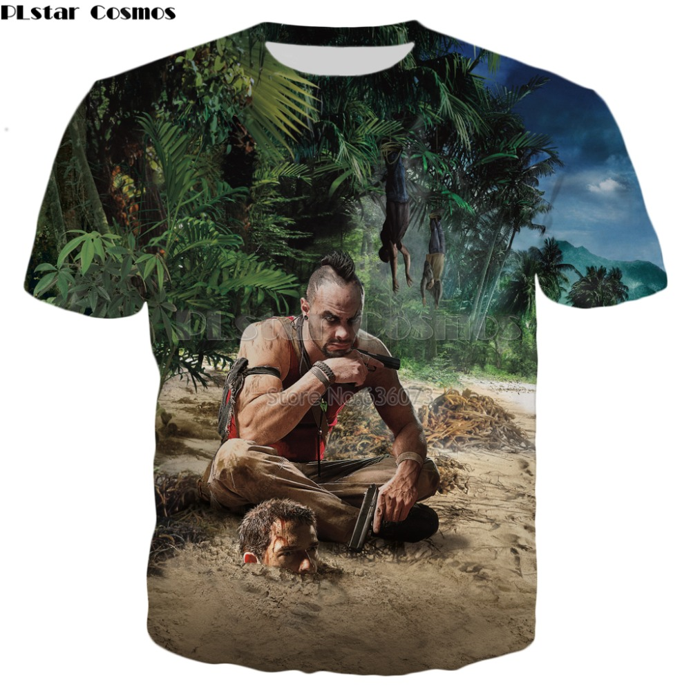 PLstar Cosmos Drop shipping 2018 summer New style Fashion   T  -  shirt   game Far Cry 3 Coast Men 3D Print Men's Women's Casual   t     shirt