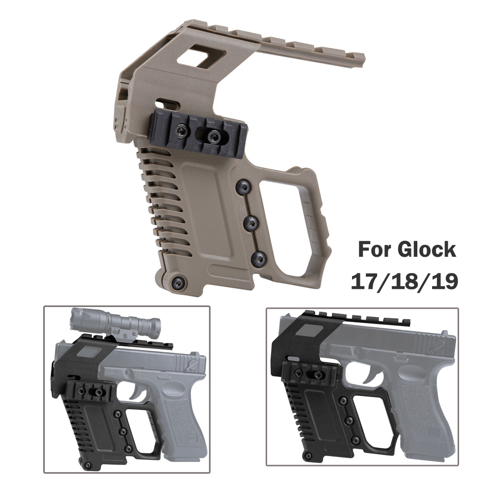 Glock serie Base dispositivo de carga pistola carabina Kit rápido recargar para Glock G17 G18 G19 serie montaje de caza