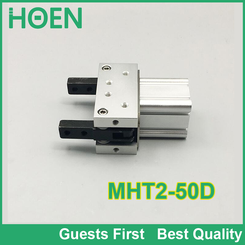 High quality MHT2 MHC2 MHY2 series MHT2-50D toggle type air gripper 2 finger double acting pneumatic robot gripper air cylinder high quality double acting pneumatic gripper mhy2 20d smc type 180 degree angular style air cylinder aluminium clamps