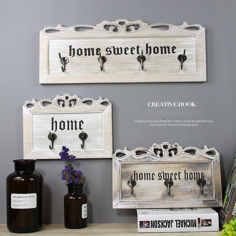 Wall Wooden Key Holder, Decorative Key organizer with Hooks,Coat Hooks, Custom Wedding Housewarming Anniversary Gift