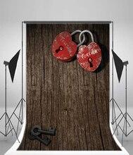 Laeacco Ретро Сердце Замки ключи деревянная доска День Святого Валентина, фото Фоны винил фотографии фонов реквизит для Аксессуары для фотостудий