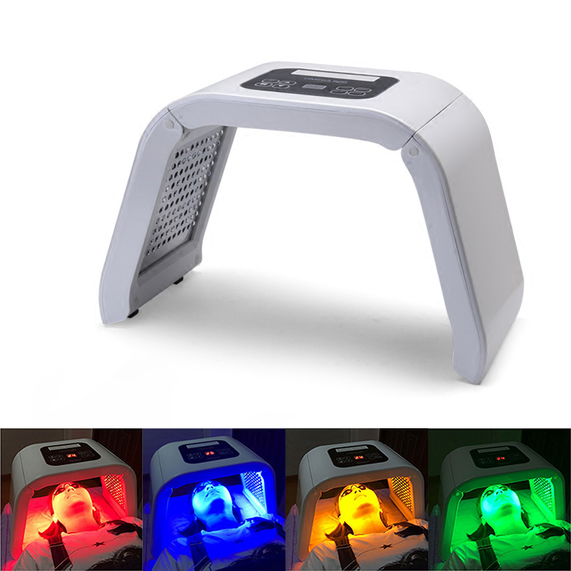 2018 New 4 Color LED PDT Therapy Skin Rejuvenation Acne Remover Anti-wrinkle Beauty Machine Facial Mask Photon Skin Care SPA bio wave pdt led photon light therapy face lifting skin tightening acne wrinkle remover skin care machine led beauty device