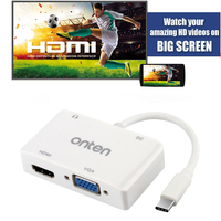 Typ C do HDMI VGA 3.5mm Adapter Audio Video Converter dla Macbook Samsung Galaxy S8 Plus Note5 Uwaga 8 LG G5 do TV Projektor
