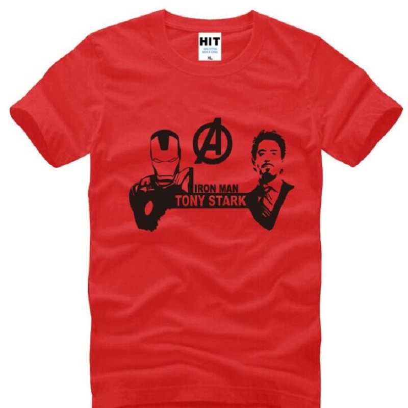 Iron Man T-Shirt Men Tony Stark T Shirt Marvel The Avengers Movie T-shirt Men Tops Clothing Super Hero Ironman Tee Shirt S-3XL