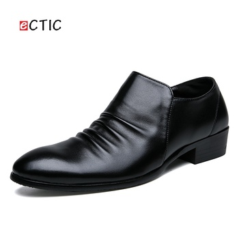 ECTIC Luxury Big Size 38~47 Office Men Dress Shoes Business Wedding Formal Calcado Hombre Cool Handsome
