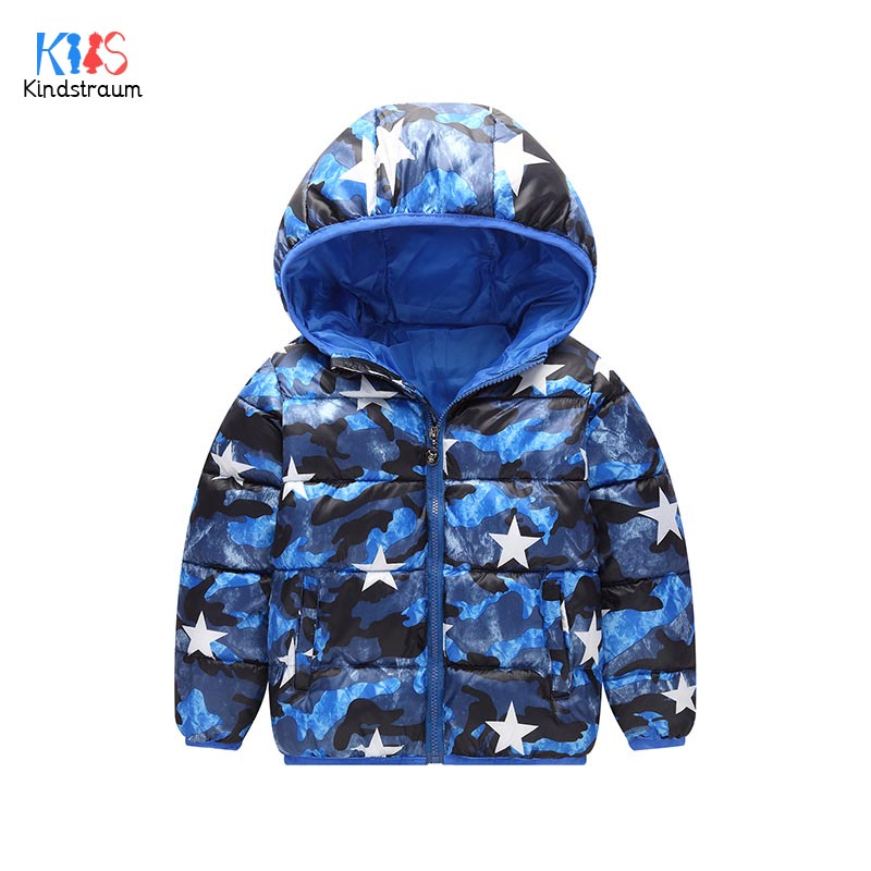 Kindstraum 2017 Boys Cartoon Thick Cotton Clothes Children Camouflage Hooded Parkas Winter Zipper Coats for Girls,RC1645 цены онлайн