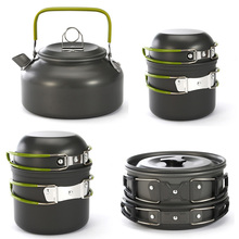 Outdoor Camping Cookware Portable Cooking Pot for Pinic BBQ Lightweight Set