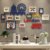 10 Piece Europe Photo Frames Wall Mural Hang Decoration Wooden Photo Frames for Picture Home Decoration Wood Artware Art Frames