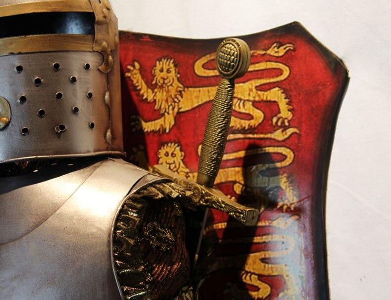 유럽 골동품 벽걸이 / 중세 갑옷 칼 전사 공예 / 거실 식당 입구 장식