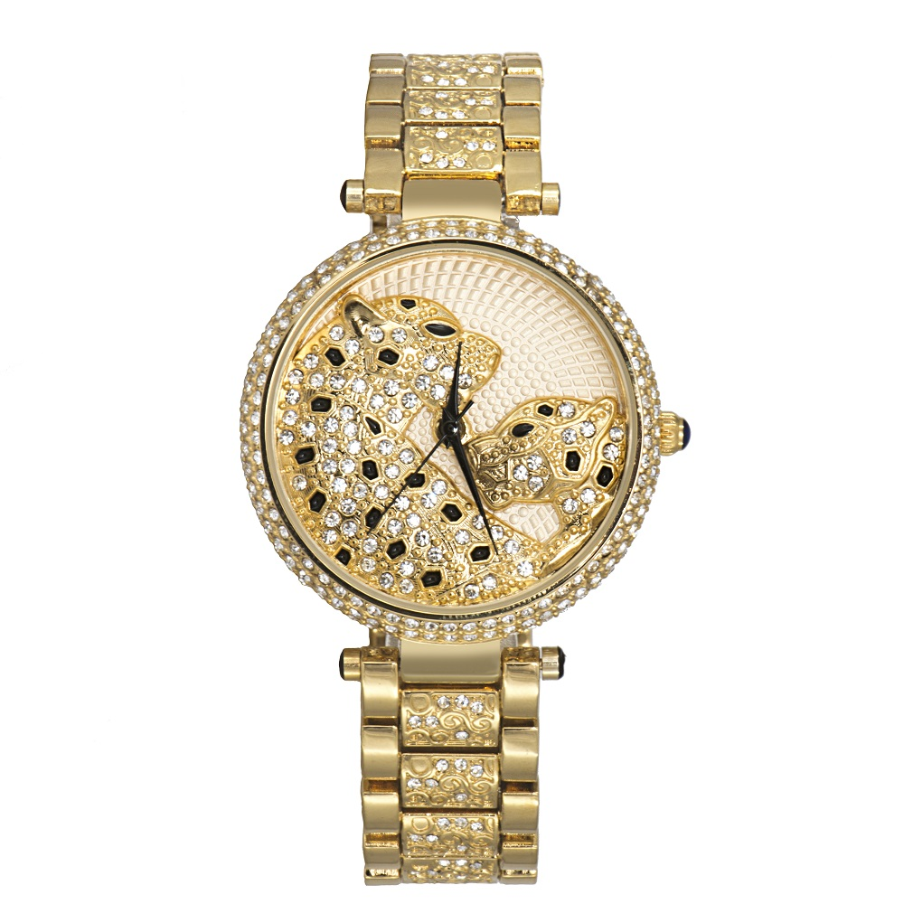 Hot Luxury Brand Women Watches Leopard Diamonds Fashion Rhinestone Watch Casual Steel Clock Female Quartz Ladies Wristwatch hot luxury brand fashion orologio donna fashion business watch women casual leather clock female quartz ladies wristwatch