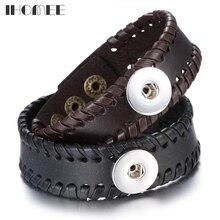 Gifts Leather Men Bracelet Braid Bracelets & Bangles Punk Wr