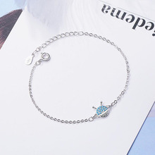 KOFSAC Unique Blue Zircon Planet Bracelets For Women Cute/Romantic 925 Silver Bracelet Girl Jewelry Fine Anniversary Accessories