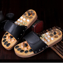 170624/Foot magnet stone pebble massage slippers foot health care men and women foot soles massage shoes