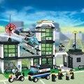 Kits de edificio modelo compatible con lego city hotel policía 3d bloques de construcción educativa regalo juguetes para niños