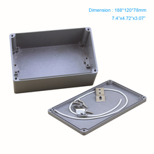 Free Shipping,  IP67  Industrial Metal Waterproof aluminium enclosure use for connection box 188*120*78 mm FA 3-1 free shipping 1piece lot top quality 100% aluminium material waterproof ip67 standard aluminium box for electronic 111 64 37mm