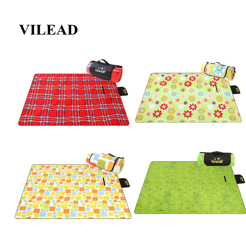 VILEAD 4 colors Portable 200*150cm Picnic Mat Camping Outdoor Blanket Waterproof Beach Mattress Climb Folding Ultralight Pic Nic-in Camping Mat from Sports & Entertainment