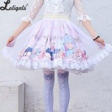 Милая Цветочная набивная короткая юбка Мори для девушки трапециевидной формы с эластичной талией