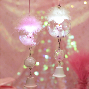 Unicorn Wind Chimes Romantic Decor Lamps