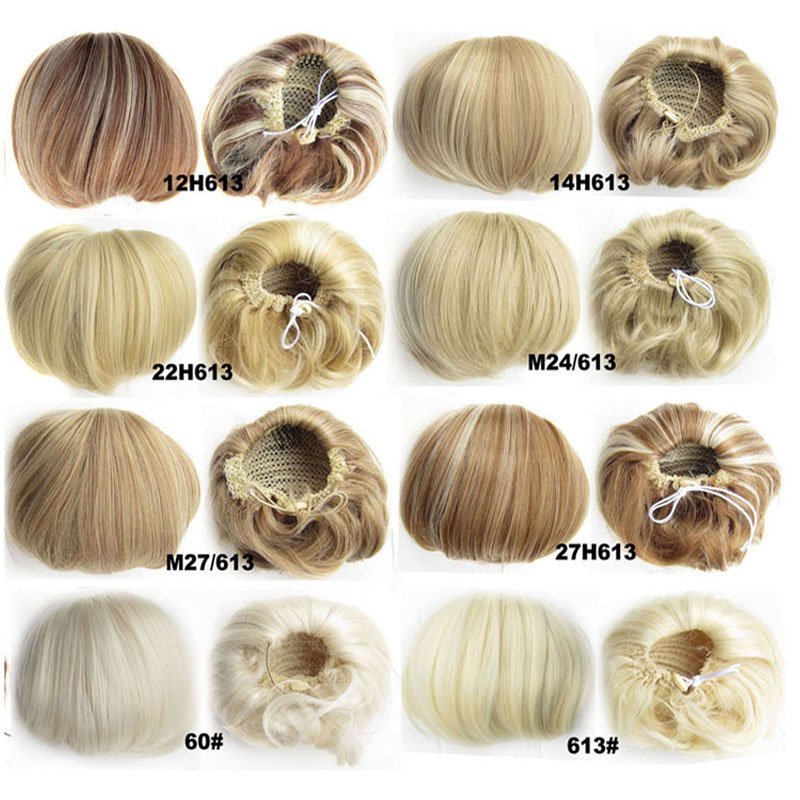 HOT 1PC 12cm Fake Buns Cute hair bun Bun Hair Chignon Donut Roller Hairpieces hair pad Weight ...