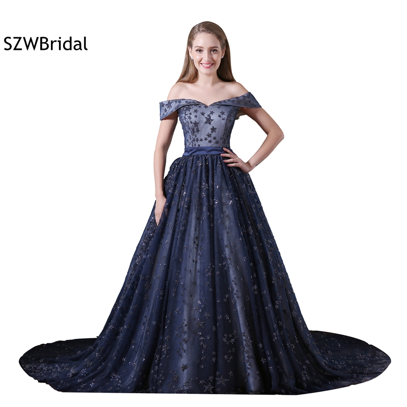 421f4758e0d2 Abendkleider A-line Sequined Lace Evening gowns Plus size Saudi Arabic  Kaftan Evening dresses Long vestido de festa ~ Best Deal July 2019