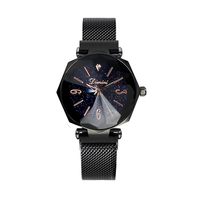 2019 Top Brand Women Watches Fashion Ladies Dress Watch Woman Causal Watch Clock Women Octagon Dial Starry Face Watches Gifts