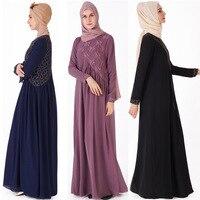 Dubai Kaftan Dress Muslim Party Abaya Women Arabic Chiffon Lace Cardigain Patchwork Turkey Islam Prayer Caftan Marocain Dresses