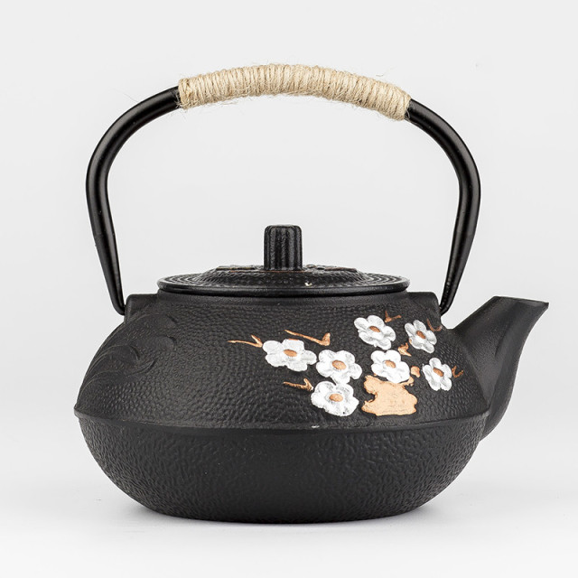 Traditional Flower Tetsubin Kettle
