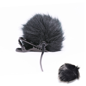 Image 3 - Dark grey Artificial Fur Microphone Windscreen Outdoor MIC Windshield Wind Muff For Lapel Microphone 1PC