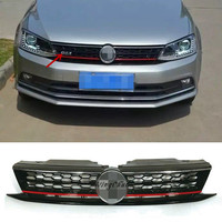 High Quality ABS Honeycomb GLI Front Upper Grille Fit For VW Jetta MK6 2015 2016 Up
