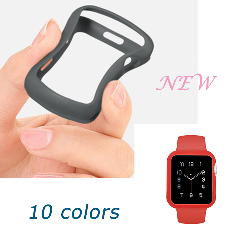 New Full Cover Protection Drop Soft Silicone Case for apple 42mm 38mm for Apple Watch Strap for Apple Watch iWatch Series 1 2 3 nanox apple ipod nano watch conversion kit silver case clear strap