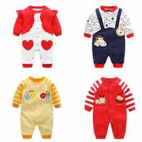 Recém-nascido unissex macacões cavalheiro outono mangas compridas macacão algodão roupas de bebê para meninos meninas roupas infantis traje wear