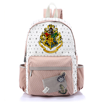 Harry Potter Floral Pattern Girls School Bag Children Cartoon Canvas Bag Rucksack Backpack for Teenagers Bagpack Girls Backpacks