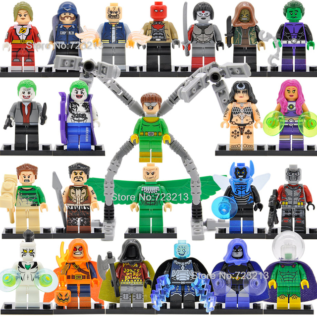 Single Super Hero Dr Octopus Figure Starfire Killer Croc Vulture Katana Mysterio Robin Electro Sandman Building Blocks Toys