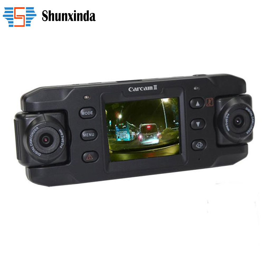 Car Camera Dual Lens Auto DVRs Car DVR with GPS Dash font b Cam b font