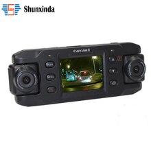 Cámara del coche Automático de Doble Lente Dvr Coche DVR con GPS Dash Cam Video Recorder Videocámara Full HD 1080 P Registrator X8000