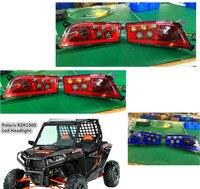 Красные, синие Polaris RZR 1000 аксессуары off road светодиодные фары комплект налобный фонарь для ATV UTV rzr 900 Polaris 1000 rzr XP 4 1000 Turbo