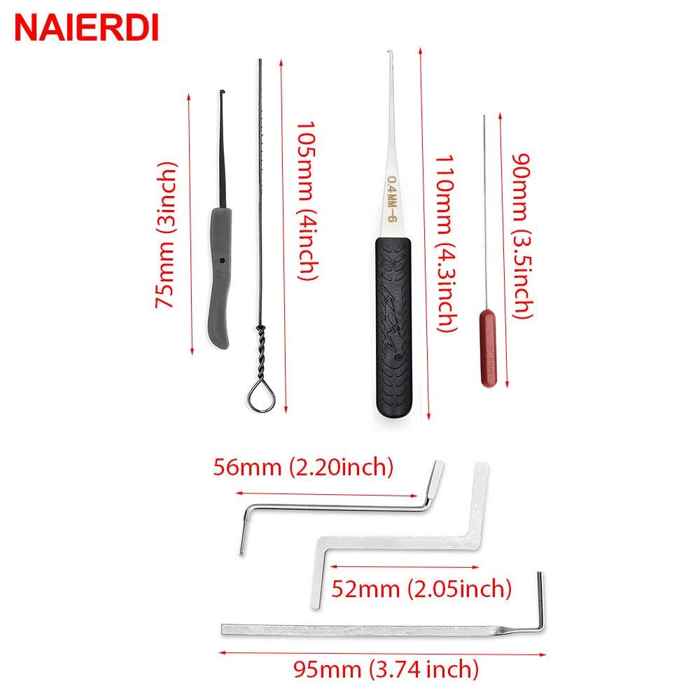 NAIERDI 17 PCS Serrurier Outil Fournitures Clé Cassée Supprimer - Outillage à main - Photo 3